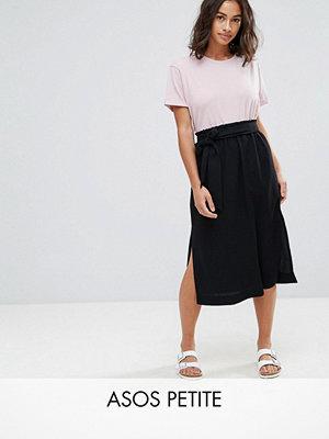 ASOS Petite Paper Bag Waist Split Side Midi Pencil Skirt