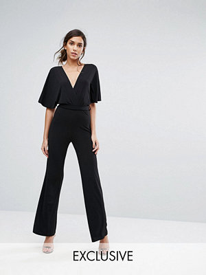 Jumpsuits & playsuits - Silver Bloom Kimono Sleeve Jumpsuit with Wide Leg