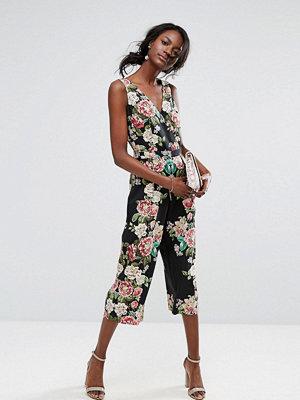 Jumpsuits & playsuits - Oasis Royal Worcester Floral Print V Front Jumpsuit