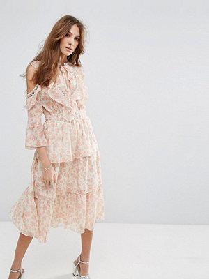 Miss Selfridge Floral Printed Ruffle Dress