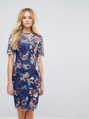 Paper Dolls Printed Lace Midi Dress with 3/4 Sleeve