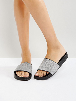 Bershka Metallic Textured Slider