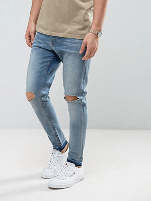 Jeans - Brave Soul Skinny Carrot Fit Distressed Jeans