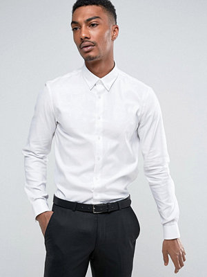 Calvin Klein Skinny Button Down Smart Shirt With Stretch