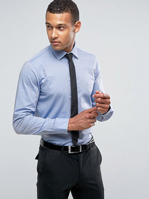 Calvin Klein Skinny Smart Shirt With Stretch In Dobby