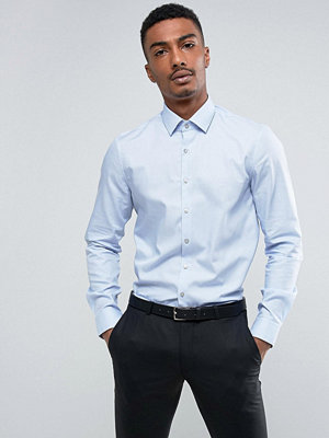 Calvin Klein Skinny Smart Shirt With Stretch In Houndstooth - Blue hawaii