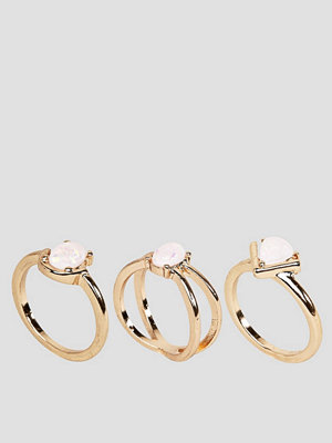 ASOS Pack of 3 Fine Opal Stone Rings