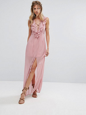 Glamorous Ruffle Detail Maxi Dress
