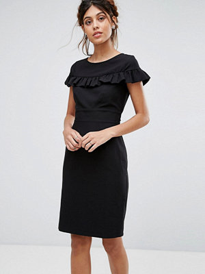 Closet London Cap Sleeve Midi Dress With Frill Detail