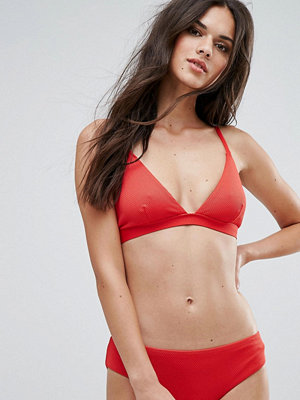 Warehouse Textured Triangle Bikini Top