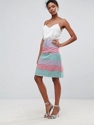 Traffic People Rainbow Lace Skirt