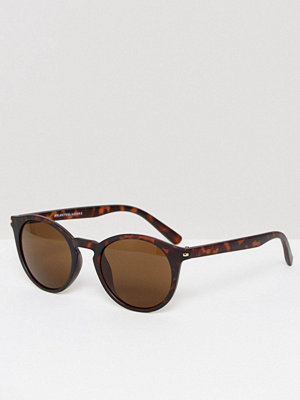 Selected Homme Round Sunglasses in Tort