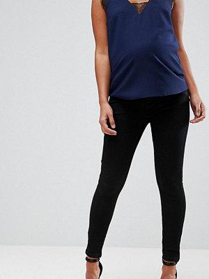 ASOS Maternity Sculpt Me Preminum Svarta jeans med linning under magen Rensvarta