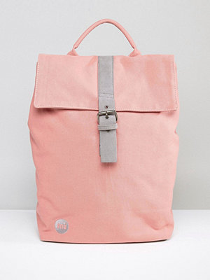Mi-Pac ryggsäck Fold Top Canvas Backpack in Rose Pink