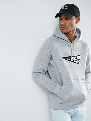 Nike Sb Icon Banner Pullover Hoodie In Grey 860116-063