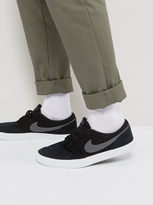 Nike Sb Portmore Trainers In Black 880266-001