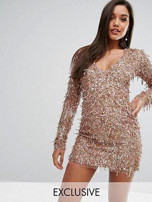 A Star Is Born Mini Dress In 3D Embellishment