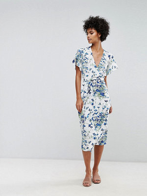 Warehouse Full Bloom Wrap Dress