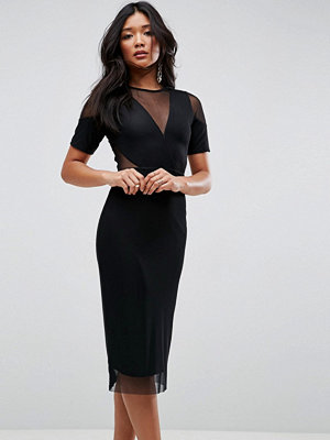 ASOS Panelled Mesh Midi Pencil Dress