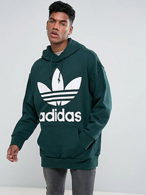 Adidas Originals Boxy Hoodie In Green BQ1871