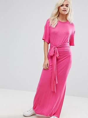 ASOS Petite Tie Waist Maxi Dress