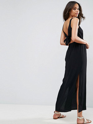ASOS Open Back Maxi with Bow Detail Dress