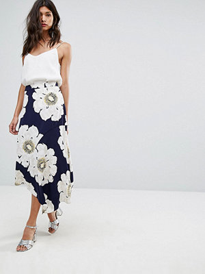 Warehouse Oversized Floral Midi Skirt