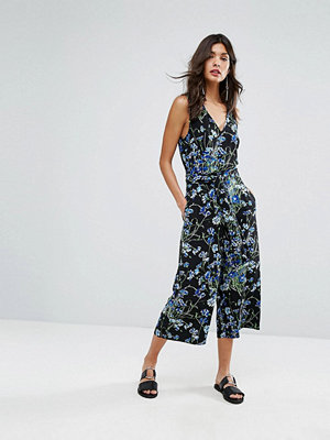 Warehouse Full Bloom Cropped Jumpsuit