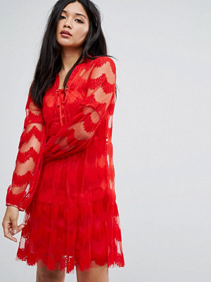 Boohoo Lace and Mesh Detail Dress