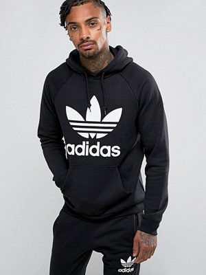 Adidas Originals Trefoil Hoodie In Black BR4852