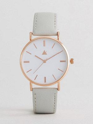 Klockor - ASOS Classic Grey Leather Watch