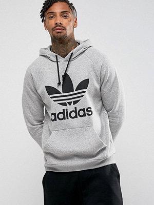 Adidas Originals Trefoil Hoodie In Grey BR4164