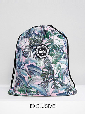 Hype ryggsäck Exclusive Pastel Garden Palm Print Drawstring Backpack