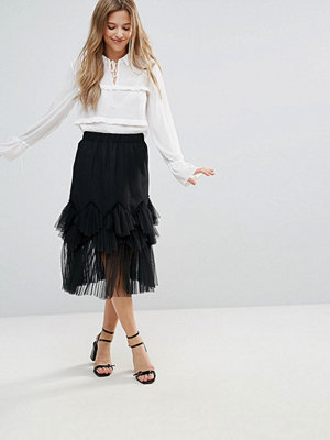 The English Factory Mesh Skirt - Jet black