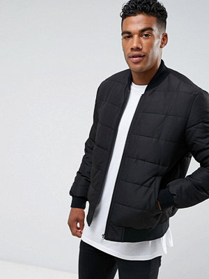 Bomberjackor - ASOS Quilted Bomber Jacket in Black