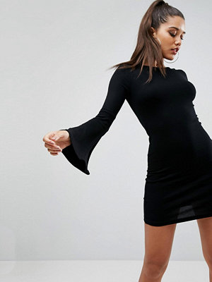 ASOS Mini Bodycon Dress with Fluted Sleeves