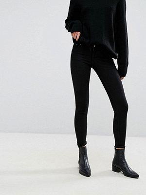Cheap Monday Skinny jeans med låg midja Ren svart