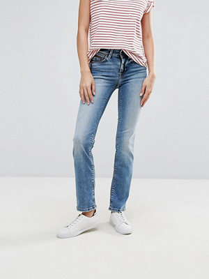 Only Ella Jeans med raka ben Mellanblå denim