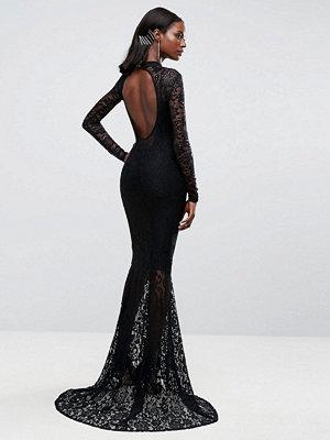 Club L Allover Lace Fishtail Maxi Dress