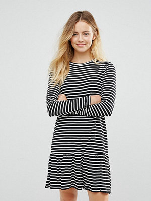 Brave Soul Stripe Drop Hem Dress