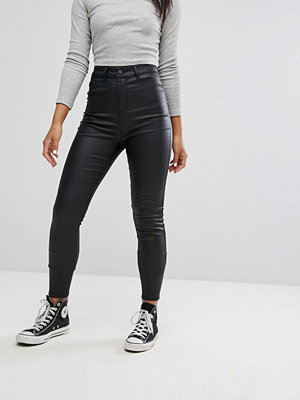 Noisy May High Waist Deluxe Coated Skinny Jean