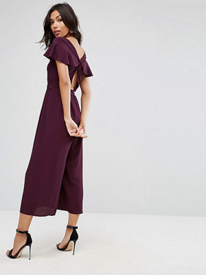 Jumpsuits & playsuits - ASOS Jumpsuit with Twist Back and Frill Detail