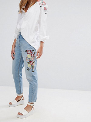 Pimkie Floral Embroidered Mom Jeans