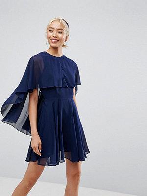 ASOS Soft Chiffon Dip Back Mini Dress