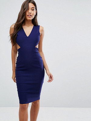 Vesper Cut Out Midi Dress with Open Back