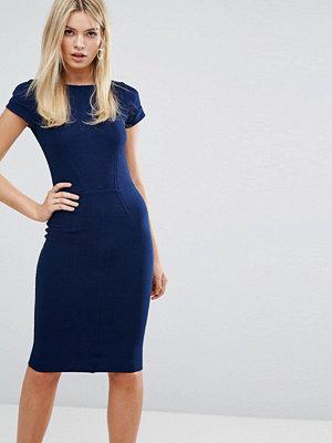 Closet London Ribbed Bodycon Dress with Cap Sleeve