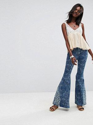 Free People Embellished Float On Flared Jeans