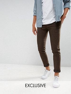 Byxor - Heart & Dagger Super Skinny Smart Trousers In Stretch Tweed