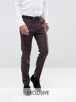 Byxor - Heart & Dagger Skinny Trousers In Check