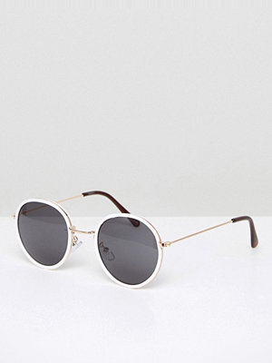 Solglasögon - ASOS Round Sunglasses In White